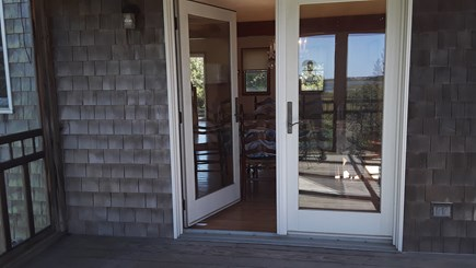 Wellfleet Cape Cod vacation rental - Door from Dining to screened in porch
