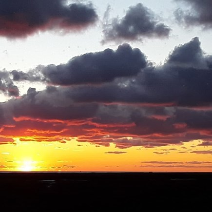 Wellfleet Cape Cod vacation rental - 1 lot away, in Dec this sunset pic was taken