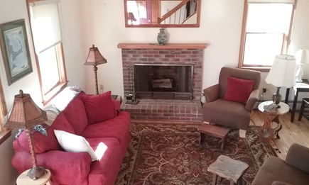 Wellfleet Cape Cod vacation rental - Living room with views with cathedral ceiling