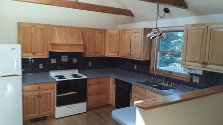 Wellfleet Cape Cod vacation rental - Kitchen with views open to Dining & Living room