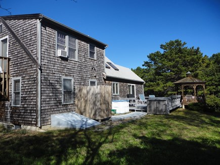 Wellfleet Cape Cod vacation rental - Deck, Gazebo & enclosed outdoor shower in the private back yard.