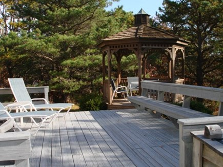 Wellfleet Cape Cod vacation rental - Lovely lounging deck with gazebo and outdoor shower.