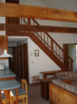 Wellfleet Cape Cod vacation rental - Cathedral ceiling in living areas.