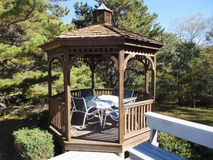 Wellfleet Cape Cod vacation rental - Gazebo to eat-play cards- ponder which beach to go to today!