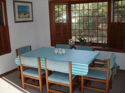 Wellfleet Cape Cod vacation rental - Dining open to kitchen-living. Door to deck.