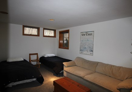 Truro Cape Cod vacation rental - Lower Level Bedroom/Family Room