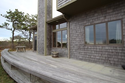 Truro Cape Cod vacation rental - Partial View of Front Deck