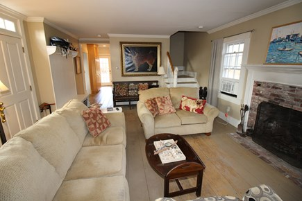 Dennis Cape Cod vacation rental - Living Room with kitchen beyond