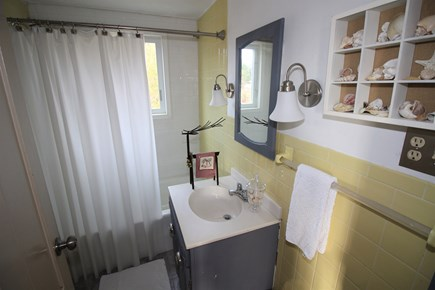 Dennis Cape Cod vacation rental - Full bath on first floor off dining room next to bedroom