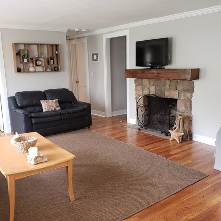 South Yarmouth Cape Cod vacation rental - Spacious living room that is very light and airy