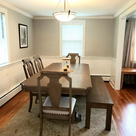 South Yarmouth Cape Cod vacation rental - Dining room with table can seat eight