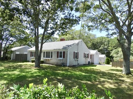 South Yarmouth Cape Cod vacation rental - Private fenced in yard, plenty of shade and sun!