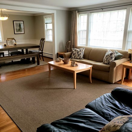 South Yarmouth Cape Cod vacation rental - Open concept dining room/ living room