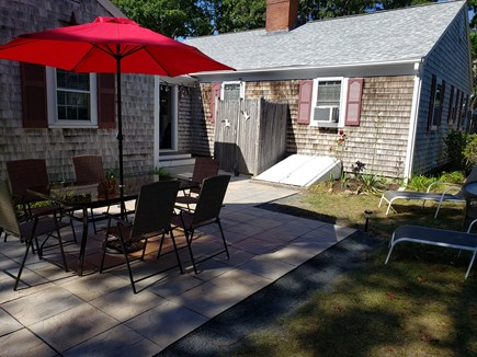 South Yarmouth Cape Cod vacation rental - New patio off the airy breezeway for your enjoyment