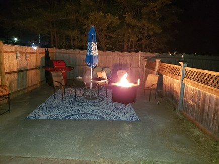 South Yarmouth Cape Cod vacation rental - Enjoy evenings w/ propane firepit on our 2nd patio- gas grill too