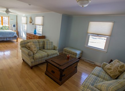 Eastham Cape Cod vacation rental - Master bedroom sitting area with its own large screen TV.