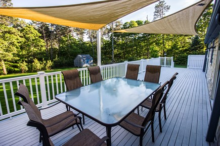 Eastham Cape Cod vacation rental - The outdoor deck is sunny and huge. Outdoor shower.