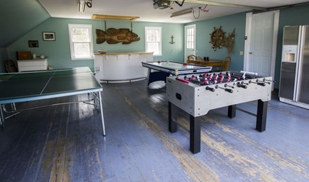 Eastham Cape Cod vacation rental - The garage is a game room with ping pong, foosball, air hockey.