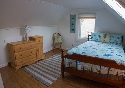 Eastham Cape Cod vacation rental - 1 of 2 bedrooms upstairs with a full size bed.