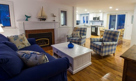 Eastham Cape Cod vacation rental - Family room is part of an open floor plan. TV, WIFI cable, etc.
