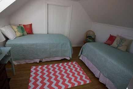 Eastham Cape Cod vacation rental - The second of 2 bedrooms upstairs has 2 twin beds.
