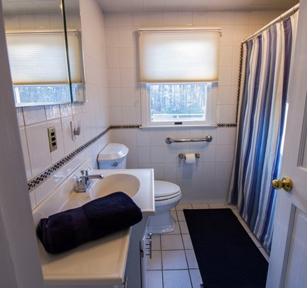 Eastham Cape Cod vacation rental - Main bath has shower/ bath tub.