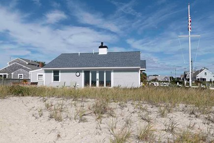 Hyannis Cape Cod vacation rental - Beach and back view of home