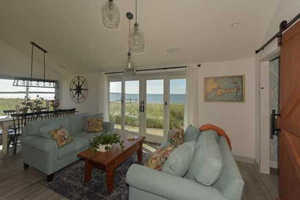 Hyannis Cape Cod vacation rental - Living room overlooking the water