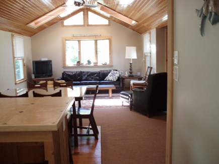 Wellfleet Cape Cod vacation rental - Living room & dining area from the kitchen