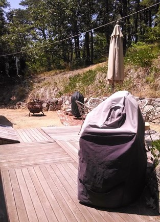 Wellfleet Cape Cod vacation rental - Back yard with BBQ grill