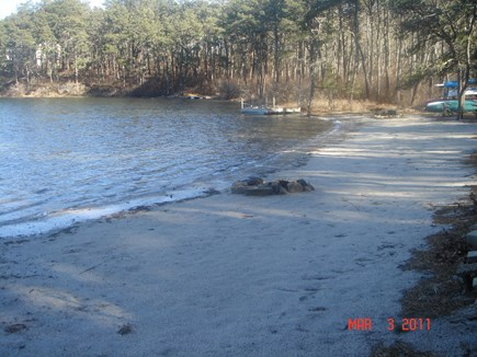 Harwich Cape Cod vacation rental - Large private beach with sandy swimming area, dock and float.