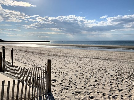 East Dennis Cape Cod vacation rental - Sea Street Beach (looking west) is just under 1/3 mile away