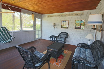 East Dennis Cape Cod vacation rental - Tranquil Screen Porch