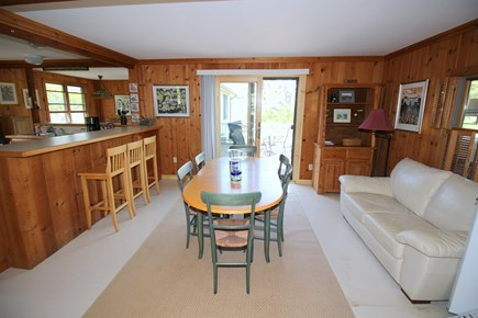 East Dennis Cape Cod vacation rental - Dining to deck & kitchen