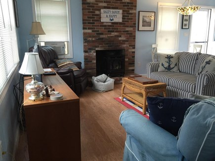 North Eastham Cape Cod vacation rental - Spacious living room with long couch, love seat, and lazyboy