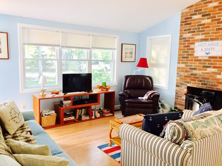 North Eastham Cape Cod vacation rental - View of the living area with woodstove for those chilly mornings