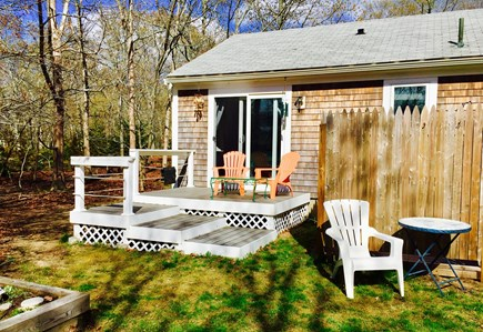 North Eastham Cape Cod vacation rental - View of outdoor shower and deck off the second bedroom