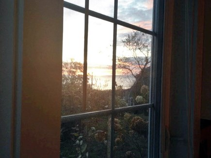Manomet, Plymouth MA vacation rental - View of ocean at sunrise from upstairs bedroom