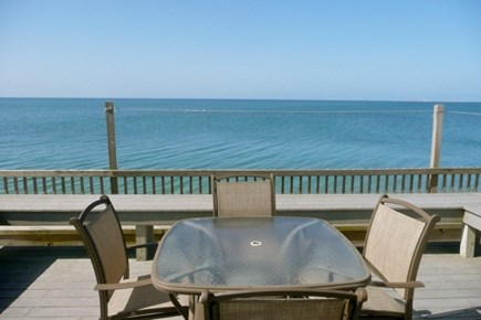 Beach Point, North Truro Cape Cod vacation rental - Waterside dining on your deck