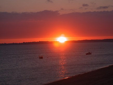 Beach Point, North Truro Cape Cod vacation rental - Sunsets from cottage deck