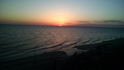 Truro Cape Cod vacation rental - Sunset overlooking the bay at the end of the road