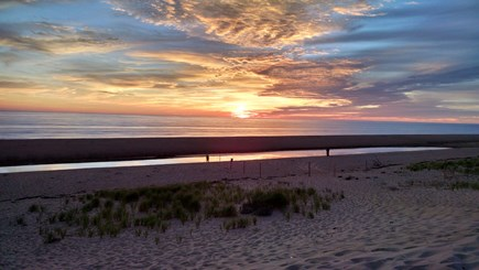 Truro Cape Cod vacation rental - Sunrise over Head of the Meadow Beach