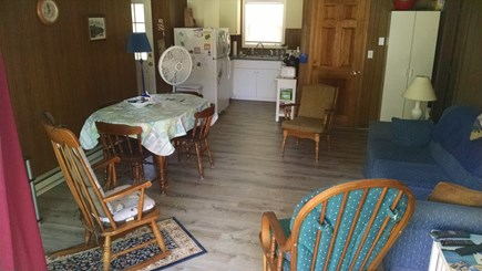 Truro Cape Cod vacation rental - View toward the kitchen area as you enter from the deck