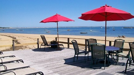 Provincetown, Bull Ring Wharf Oceanfront Cape Cod vacation rental - Common Deck outside unit