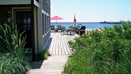 Provincetown, Bull Ring Wharf Oceanfront Cape Cod vacation rental - Door to unit and path to common deck