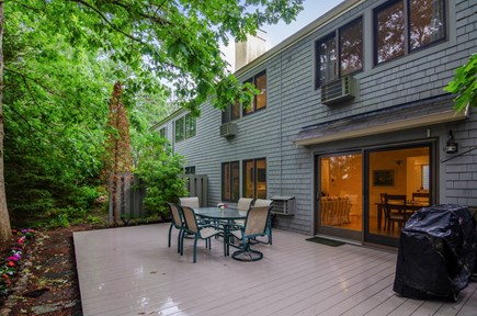 Brewster Cape Cod vacation rental - Back patio area