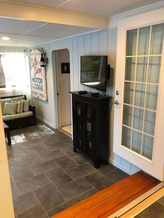 Dennis Port Cape Cod vacation rental - Screened-in Porch with Smart TV - View 2