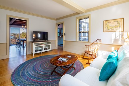 Orleans Cape Cod vacation rental - Light-filled den with smart TV and pullout couch
