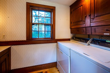 Orleans Cape Cod vacation rental - Half bath with laundry off of the kitchen