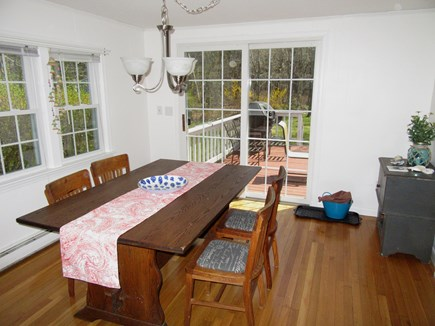 Dennis Cape Cod vacation rental - Dining w/Slider to the deck